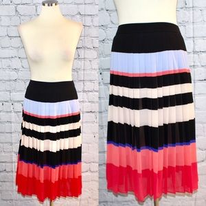 Ann Taylor striped pleated skirt